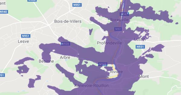 Carte de couverture pour Profondeville - source Proximus